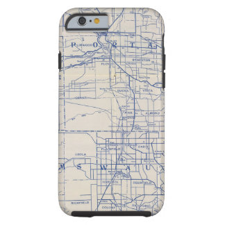 Wisconsin Bicycle Road Map 2 Tough iPhone 6 Case