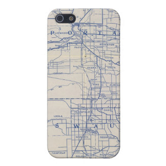 Wisconsin Bicycle Road Map 2 Cover For iPhone 5/5S