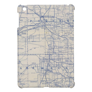 Wisconsin Bicycle Road Map 2 iPad Mini Cover