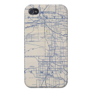 Wisconsin Bicycle Road Map 2 iPhone 4 Cover