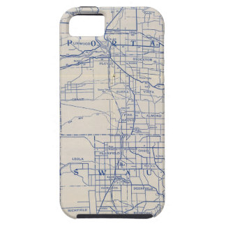 Wisconsin Bicycle Road Map 2 iPhone 5 Case
