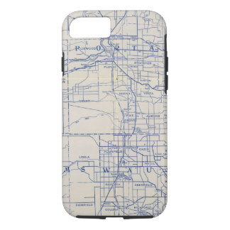 Wisconsin Bicycle Road Map 2 iPhone 8/7 Case