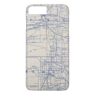 Wisconsin Bicycle Road Map 2 iPhone 8 Plus/7 Plus Case