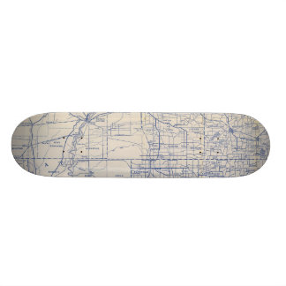 Wisconsin Bicycle Road Map 2 Skate Deck