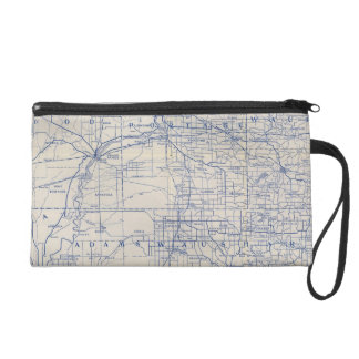 Wisconsin Bicycle Road Map 2 Wristlet