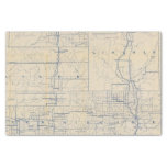 "Wisconsin Bicycle Road Map 3 10"" X 15"" Tissue Paper"