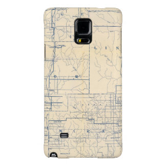 Wisconsin Bicycle Road Map 3 Galaxy Note 4 Case