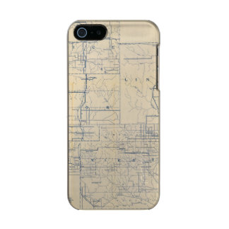 Wisconsin Bicycle Road Map 3 Incipio Feather® Shine iPhone 5 Case