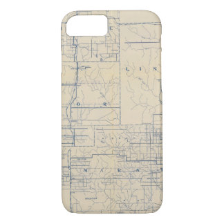 Wisconsin Bicycle Road Map 3 iPhone 8/7 Case