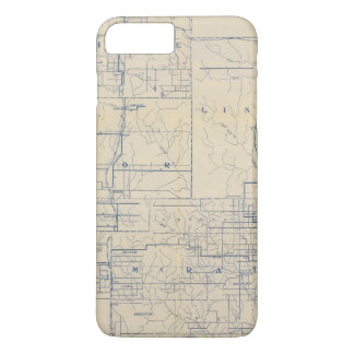 Wisconsin Bicycle Road Map 3 iPhone 8 Plus/7 Plus Case