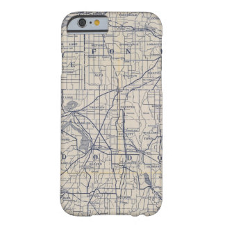 Wisconsin Bicycle Road Map 4 Barely There iPhone 6 Case
