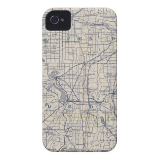 Wisconsin Bicycle Road Map 4 iPhone 4 Cover