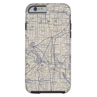 Wisconsin Bicycle Road Map 4 Tough iPhone 6 Case