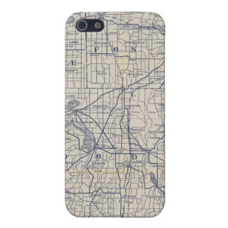 Wisconsin Bicycle Road Map 4 Case For The iPhone 5