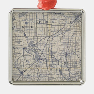 Wisconsin Bicycle Road Map 4 Christmas Ornament