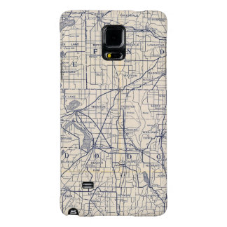 Wisconsin Bicycle Road Map 4 Galaxy Note 4 Case