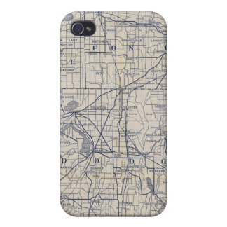 Wisconsin Bicycle Road Map 4 iPhone 4/4S Covers
