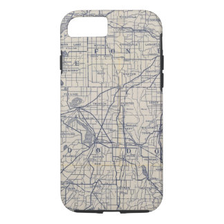 Wisconsin Bicycle Road Map 4 iPhone 8/7 Case