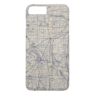 Wisconsin Bicycle Road Map 4 iPhone 8 Plus/7 Plus Case