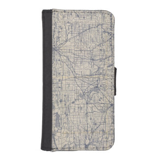 Wisconsin Bicycle Road Map 4 iPhone SE/5/5s Wallet Case
