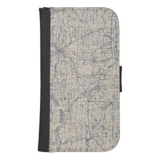 Wisconsin Bicycle Road Map 4 Galaxy S4 Wallet Case
