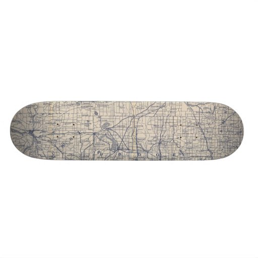 Wisconsin Bicycle Road Map 4 Skate Board Deck