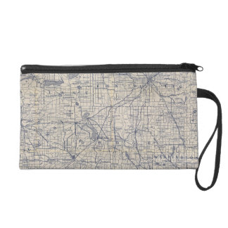 Wisconsin Bicycle Road Map 4 Wristlet