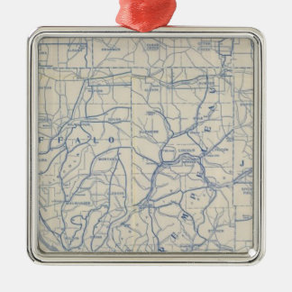 Wisconsin Bicycle Road Map 6 Christmas Ornament