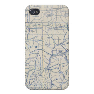 Wisconsin Bicycle Road Map 6 iPhone 4 Case