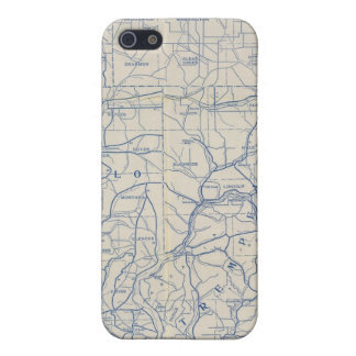 Wisconsin Bicycle Road Map 6 iPhone 5/5S Case