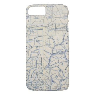 Wisconsin Bicycle Road Map 6 iPhone 8/7 Case