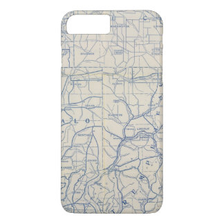 Wisconsin Bicycle Road Map 6 iPhone 8 Plus/7 Plus Case