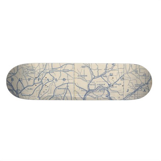 Wisconsin Bicycle Road Map 6 Custom Skate Board