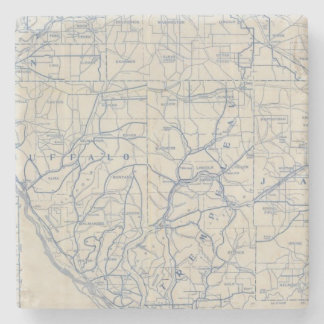 Wisconsin Bicycle Road Map 6 Stone Coaster