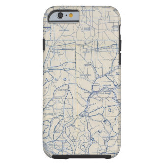 Wisconsin Bicycle Road Map 6 Tough iPhone 6 Case