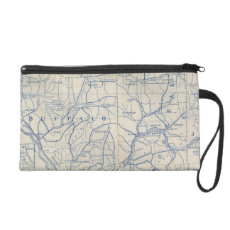 Wisconsin Bicycle Road Map 6 Wristlet