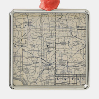 Wisconsin Bicycle Road Map 8 Christmas Ornament