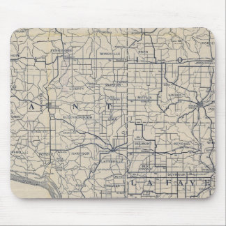 Wisconsin Bicycle Road Map 8 Mouse Pad