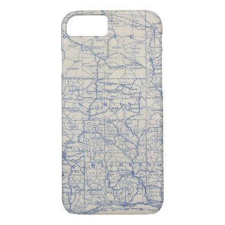 Wisconsin Bicycle Road Map iPhone 8/7 Case