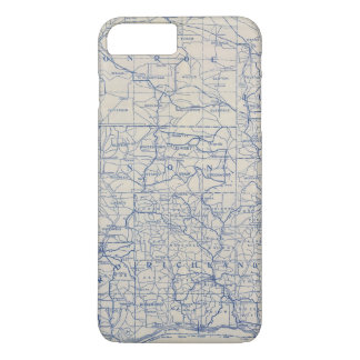 Wisconsin Bicycle Road Map iPhone 8 Plus/7 Plus Case