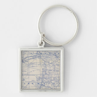 Wisconsin Bicycle Road Map Key Ring