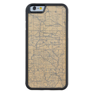 Wisconsin Bicycle Road Map Maple iPhone 6 Bumper