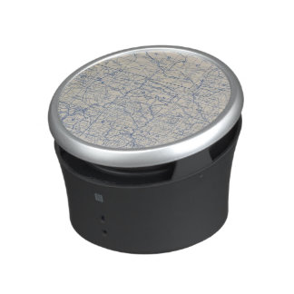 Wisconsin Bicycle Road Map Bluetooth Speaker