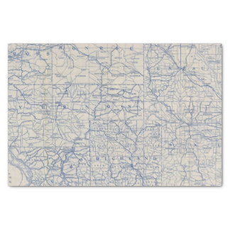Wisconsin Bicycle Road Map Tissue Paper