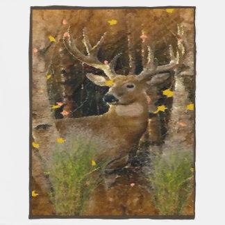 Wisconsin Big Buck Whitetail Deer Signature Fleece Blanket