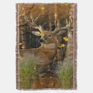 Wisconsin Big Buck Whitetail Deer Signature Throw Blanket