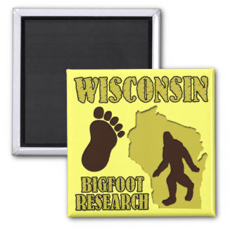 Wisconsin Bigfoot Research Square Magnet