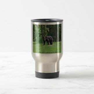 Wisconsin Black bear Travel Mug