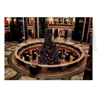 Wisconsin Capitol Christmas Tree Card