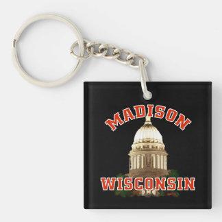 Wisconsin capitol Key Chain Acrylic Keychain